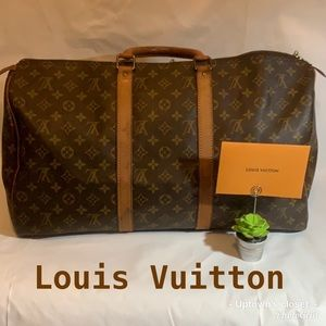 Authentic Louis Vuitton duffle travel keepall 50